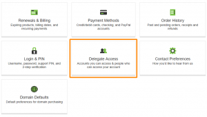 Delegate Account Access in GoDaddy - Step 2
